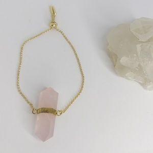 """Rose Petal"" rose quartz bracelet"